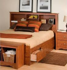 Size Of Queen Headboard Queen Size Storage Bed With Bookcase Headboard Houston Model