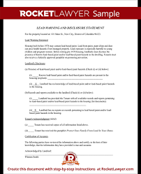 ohio lead based paint disclosure form lead paint disclosure form statement with sample