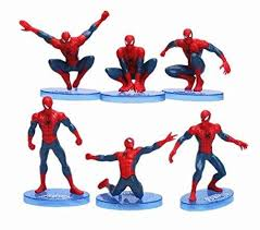 Spiderman Cake Topper Figurine Various Random Spider Man Designs Vazlo