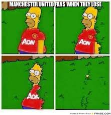 Manchester United fans when they lose... - Manchester United Homer ... via Relatably.com