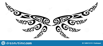 Tribal Angel Designs Angel Wings Flying Tattoo Tribal Stylised Maori Koru Design
