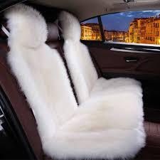 furry car seat covers car seat cover long wool winter universal sheepskin fur front seat