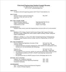 Resume Freshers Format 19 Electrical Engineer Fresher Pdf Download