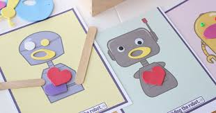 Free Craft Printables Templates Free Printable Make A Robot Craft For Kids Sunny Day Family