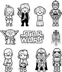 Small Picture Star Wars Little Characters Free Coloring Page Kids Movies