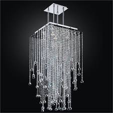 creative home design alluring long crystal chandelier square crystal chandelier 598f glow pertaining to square