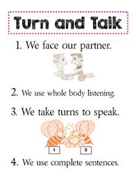 Turn And Talk Anchor Chart Worksheets Teaching Resources Tpt
