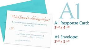 Response Card Envelope Size Reference For Response Cards A1 Response Card And