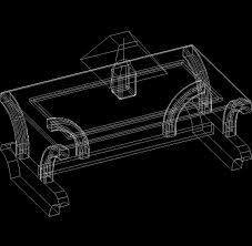 coffee table 3d dwg model for autocad