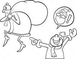 Santa Fout Cartoon Kleurplaat Stockvector Izakowski 34988947