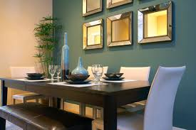 Lovely Modern Dining Room With Wall Mirrors