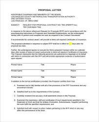 Contract Proposal Letter Filename My College Scout