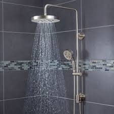 ideas shower systems pinterest: speakman sws  bn round rain shower head with handheld combo shower system and