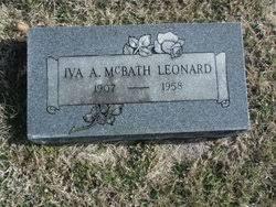 Anna Iva McFall Leonard (1907-1958) - Find A Grave Memorial