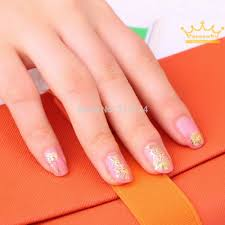 6 Sheets Hot Pretty Golden Color 3d Diy Flower Nail Stickers ...