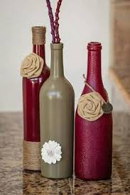 Decorative Wine Bottles Ideas DIY flower vases give your res room some colour Humbercollege 60