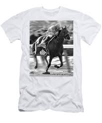 2015 Belmont Stakes Chart American Pharoah And Victor Espinoza Win The 2015 Belmont Stakes Mens T Shirt Athletic Fit