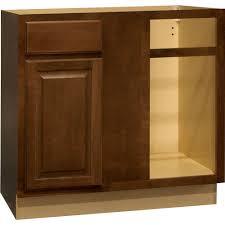 Blind Base Corner Kitchen Cabinet in Cognac
