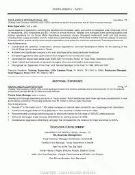 Pizza Manager Resume Resume Template