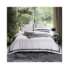 tutubird luxury satin egyptian cotton bedding set solid color striped plaid duvet cover flat sheet 2 pillowcases king queen size color color 01 size queen