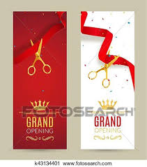 Grand Opening Invitations Grand Opening Invitation Banner Red Ribbon Cut Ceremony