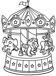 Carnival Coloring Page Circus Themed Pages Book Preschool Theme