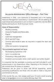 Accounts Administrator/ Office Manager – Part Time | Jobfix