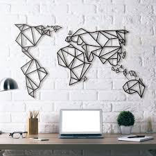world map metal wall art australia