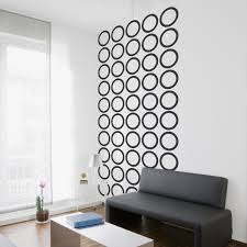 wall stickers modern abstract decals removable outstanding l and stick posters black circles decal gallery living