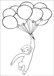 Curious George Coloring Pages To Print Printable Colouring Page