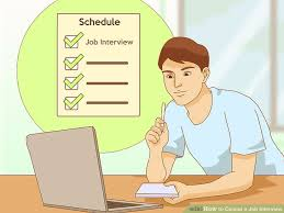 calling back after interview 3 ways to cancel a job interview wikihow