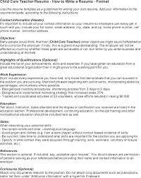 Child Care Sample Resume Assistant Director Daycare Resume Sample