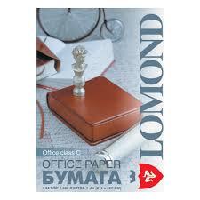 <b>Бумага LOMOND</b> Office <b>A4</b>, <b>80г</b>, 146%, 500л (0101005) — купить в ...