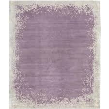 modern border dark mauve hand knotted tibetan modern abstract rug wool silk for