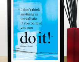 inspirational posters for office. A4 You Can Do It Quote Poster. Positive Thinking Office Wall Decor. Inspirational Poster Posters For