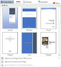 Create A Cover Page Using Word The Training Lady