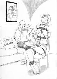 Drawings men in bondage