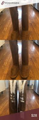 Nwt Rue 21 Brown Tall Lace Back Boots Medium 7 8 New Rue