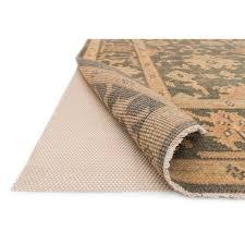 loloi 2 x 8 premium grip rubber rug pad in beige