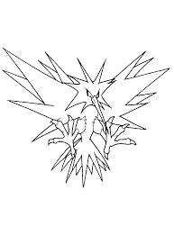 Les coloriages d'animaux légendaires sont gratuits. Coloriage Pokemon Legendaire 2 321 Coloriage