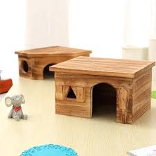 natural wood small animal pet hamster house bed winter guinea pig hedgehog chinchilla cage nest chew