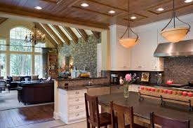 The Great Room And Kitchen Share An Open Living Space But The Ceiling  Differences Make For Home Design Ideas
