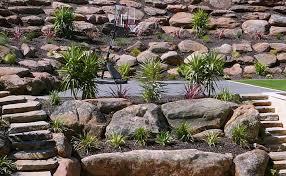 moss rock retaining walls