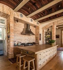 Brick Kitchen Floors Brick Pattern Tile Spaces Traditional With Floor Tile Design