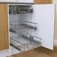 oo 6 x kitchen pull out soft close baskets 600mm wide cabinet slide out wire storage drawers amazon co uk kitchen home