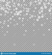 Realistic Falling White Snow Overlay On Transparent
