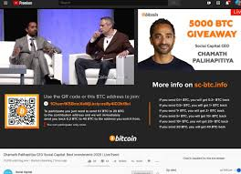 Cryptocurrency and stock market technical analysis and news. Chamath Palihapitiya On Twitter There Is A Bitcoin Scam Running On Youtube Right Now Using Me And Elonmusk Please Don T Fall For It It S Not Legitimate I Ve Told Youtube And Google To