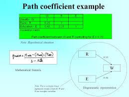 5 path coefficient example