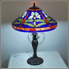 dragonfly stained glass lamp pattern