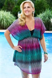 plus size cover up plus size tunic cover up from always for me plus model magazine
